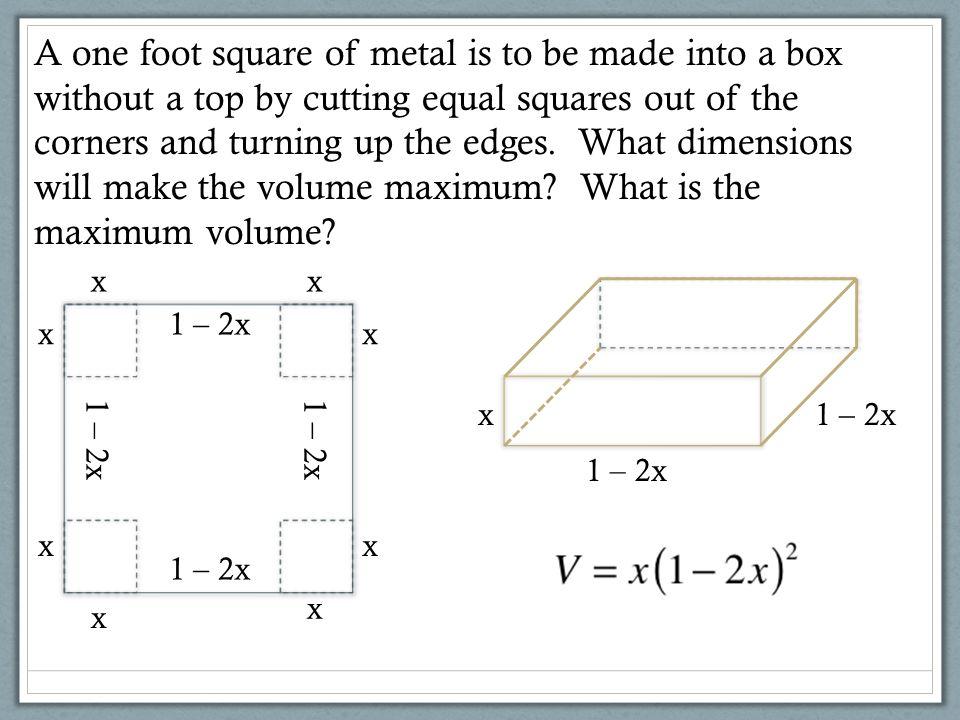 maximum minimum dimensions: 1/6 x 2/3 x 2/3 volume: 2/27