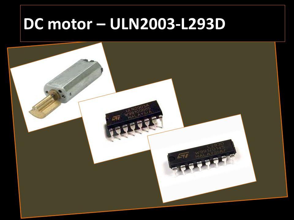 DC motor – ULN2003-L293D