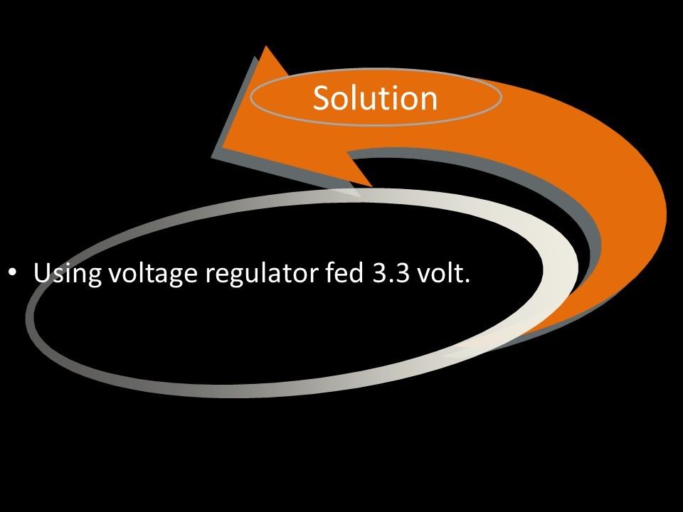 Using voltage regulator fed 3.3 volt. Solution