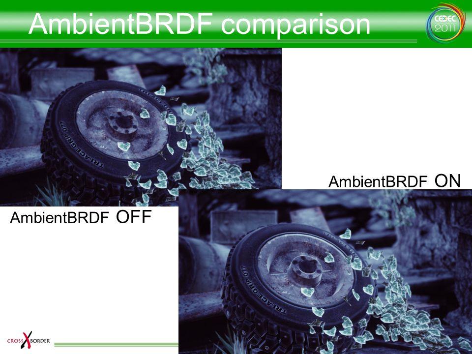 AmbientBRDF comparison AmbientBRDF OFF AmbientBRDF ON