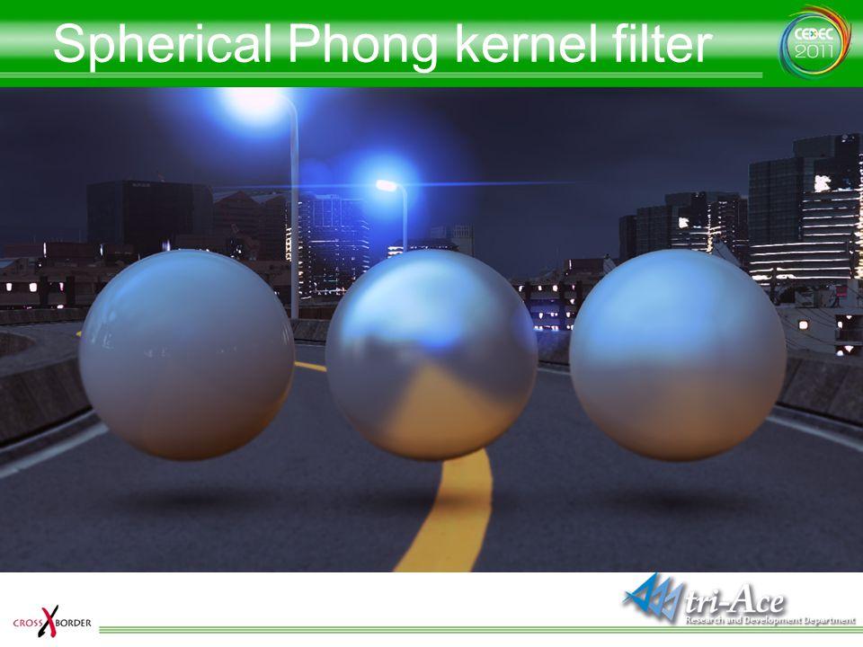 Spherical Phong kernel filter