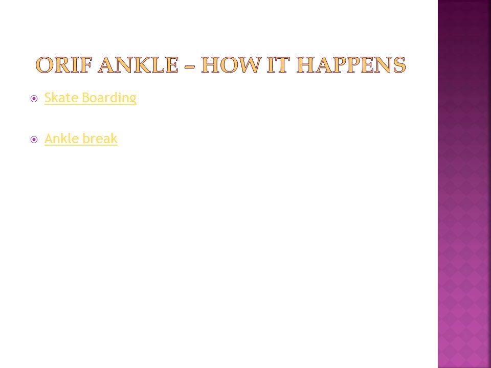  Skate Boarding Skate Boarding  Ankle break Ankle break