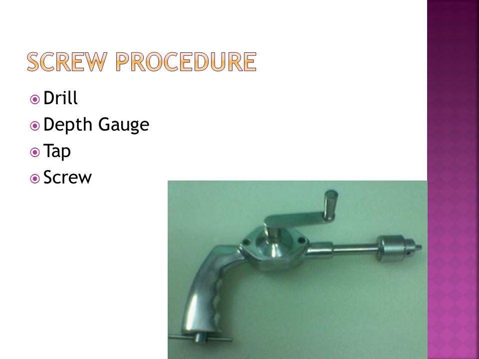  Drill  Depth Gauge  Tap  Screw