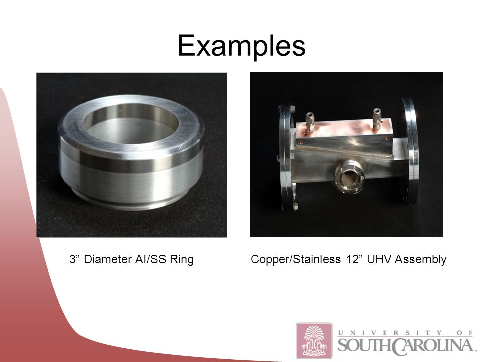 3 Diameter AI/SS RingCopper/Stainless 12 UHV Assembly