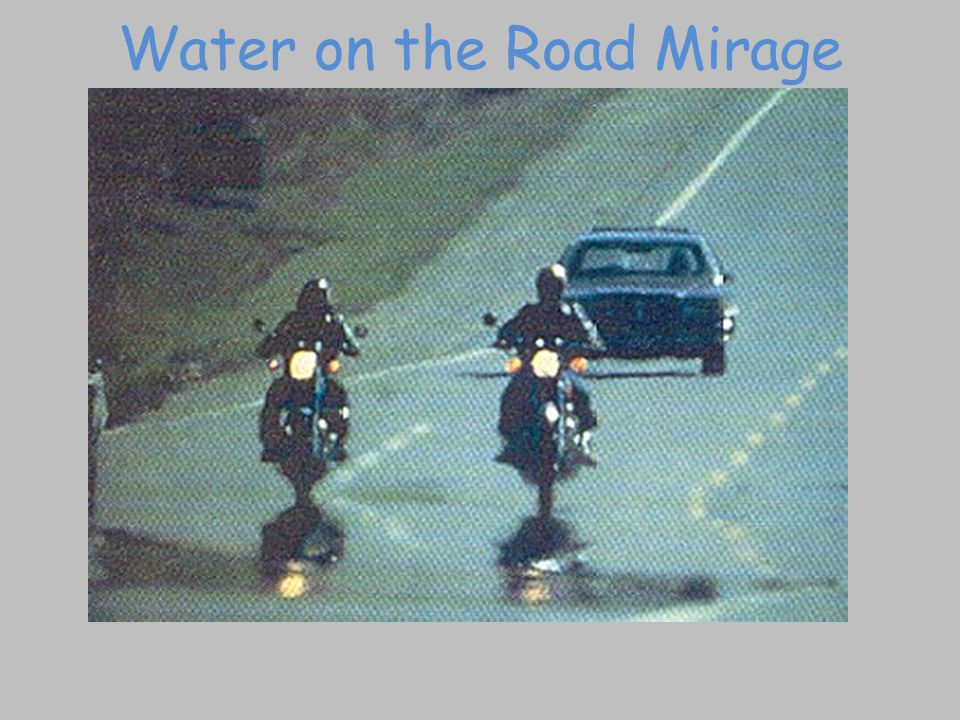 Water on the Road Mirage