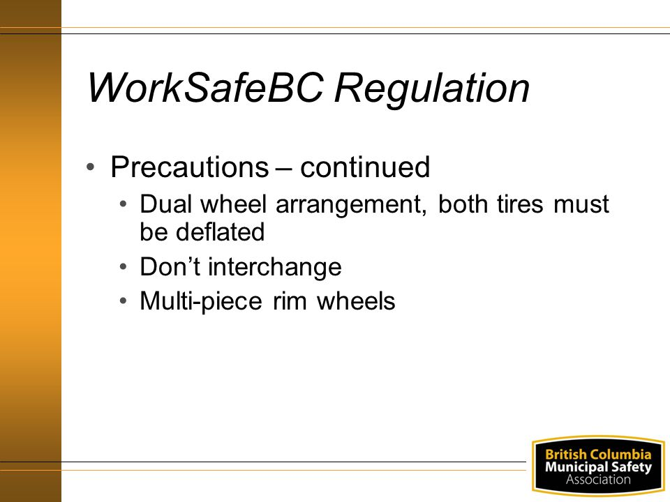 Procedures - Mounting Mounting Disc Wheels – continued Use the proper cap nuts Use proper tightening sequence and torque levels Use air wrenches only to spin on the nuts Recheck and retighten cap nut at 80k to 160k