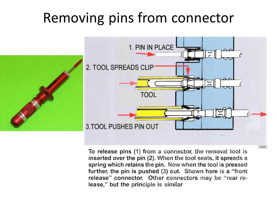 Removing pins from connector