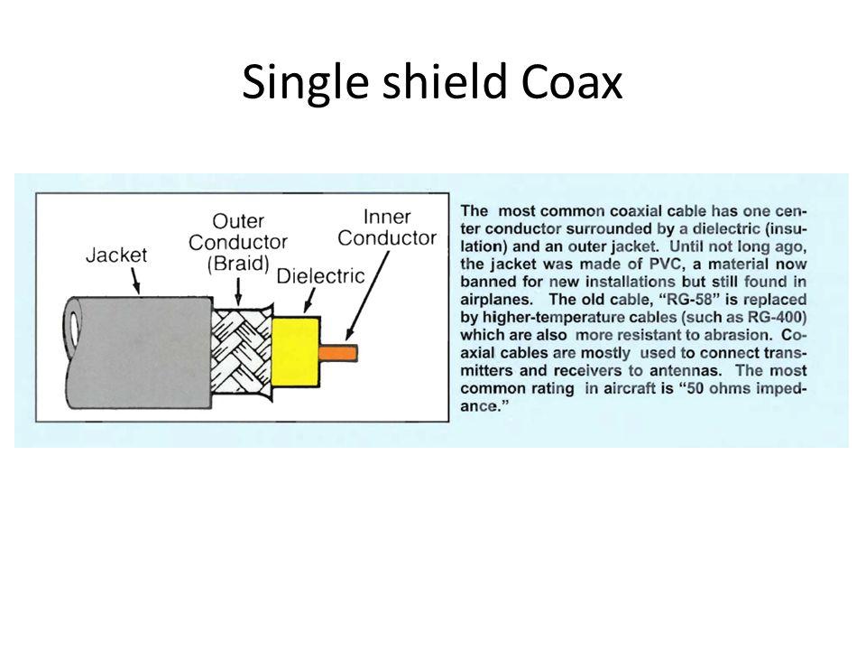 Single shield Coax