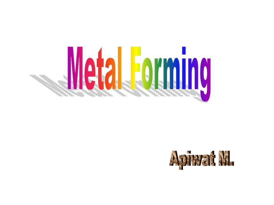 Fundamentals of Metal Forming Bulk deformation Sheet metalworking Outline