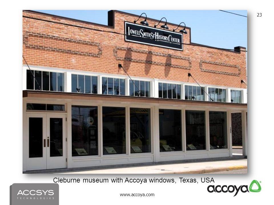 www.accoya.com 23 Cleburne museum with Accoya windows, Texas, USA