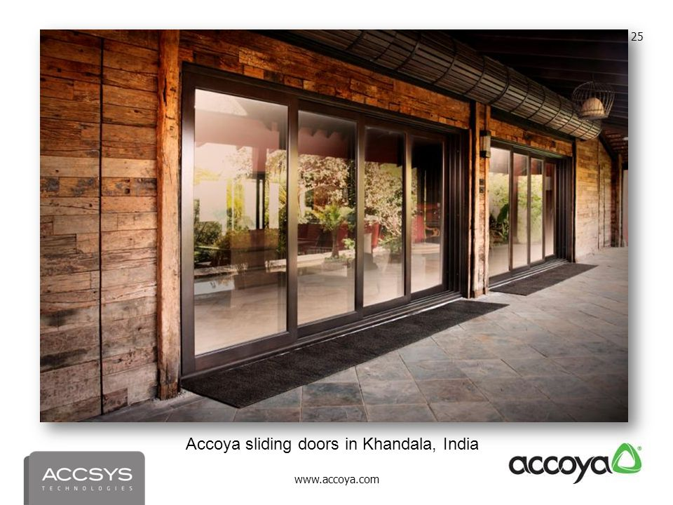 www.accoya.com 25 Accoya sliding doors in Khandala, India