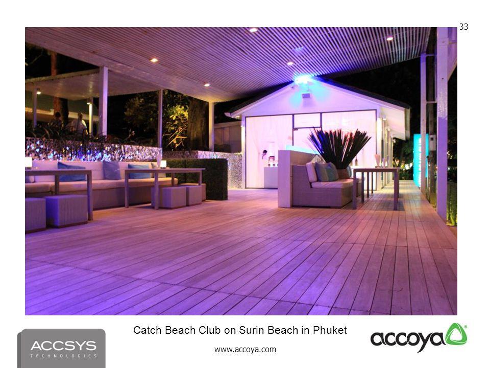 www.accoya.com 33 Catch Beach Club on Surin Beach in Phuket