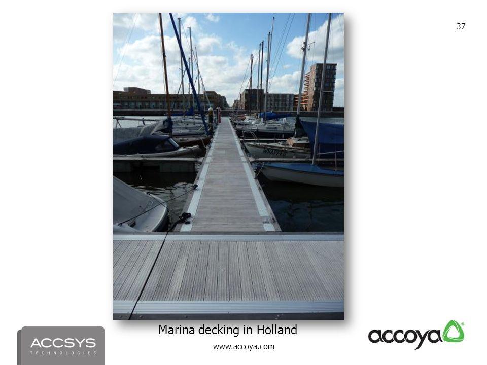 www.accoya.com 37 Marina decking in Holland