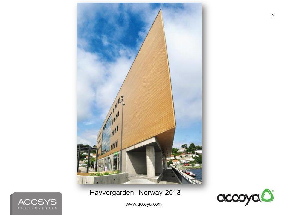 www.accoya.com 5 Havvergarden, Norway 2013