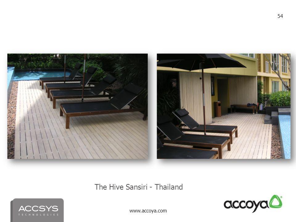 www.accoya.com 54 The Hive Sansiri - Thailand