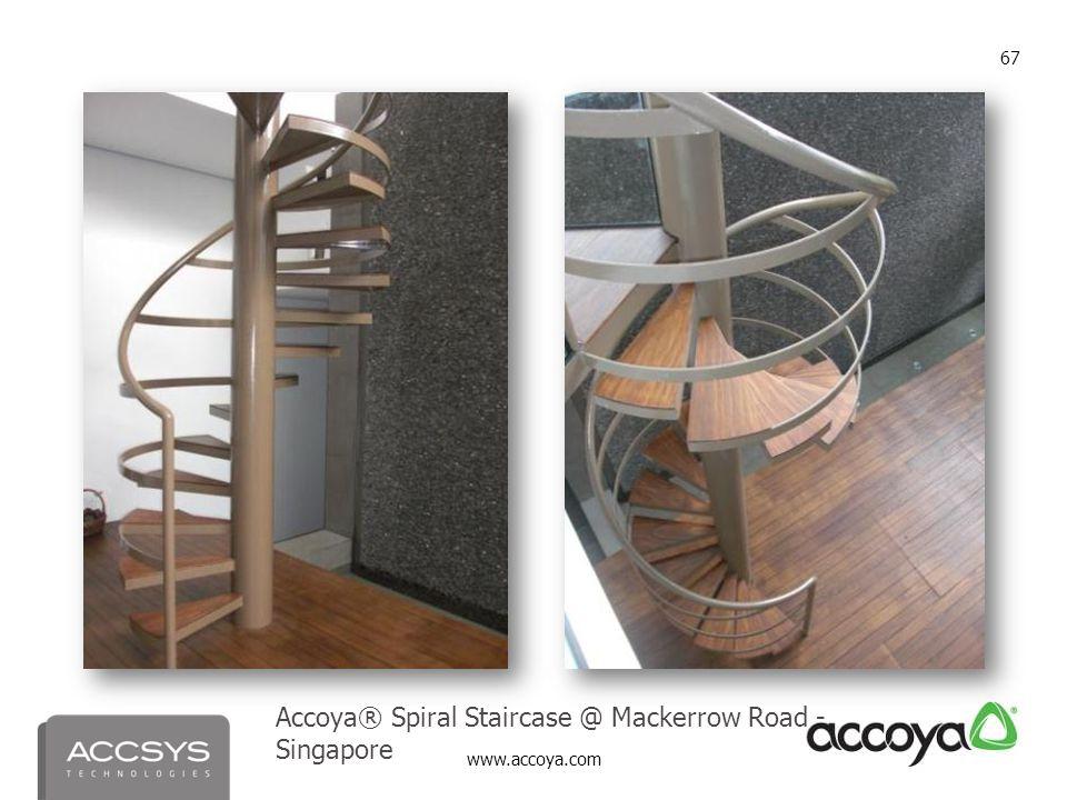 www.accoya.com 67 Accoya® Spiral Staircase @ Mackerrow Road - Singapore