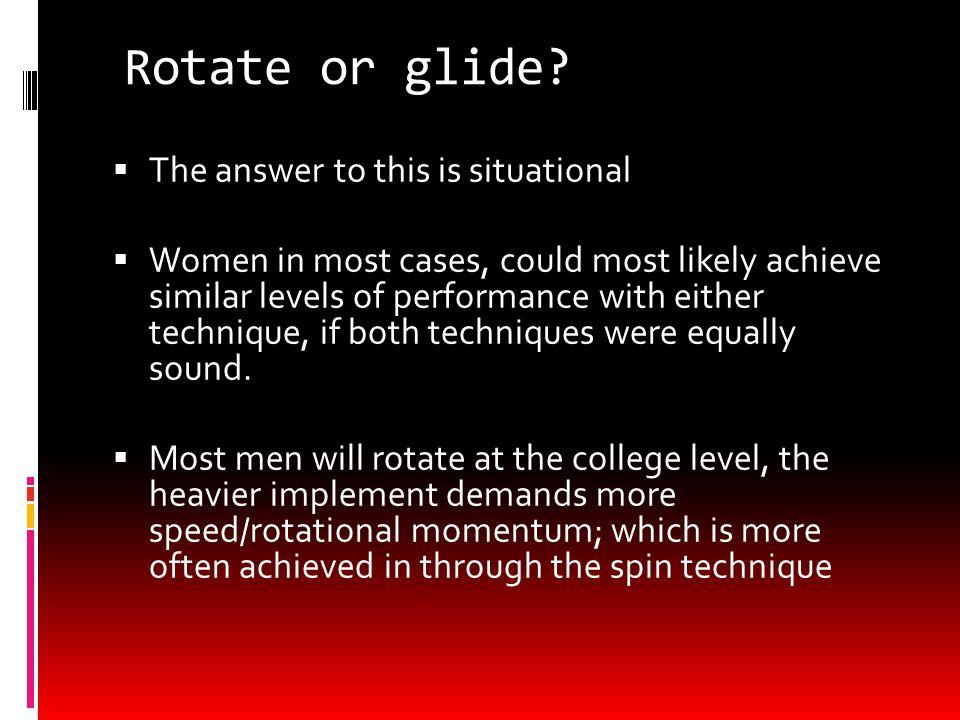 Rotate or glide.