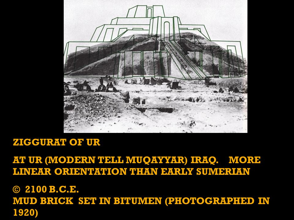 ZIGGURAT OF UR AT UR (MODERN TELL MUQAYYAR) IRAQ.