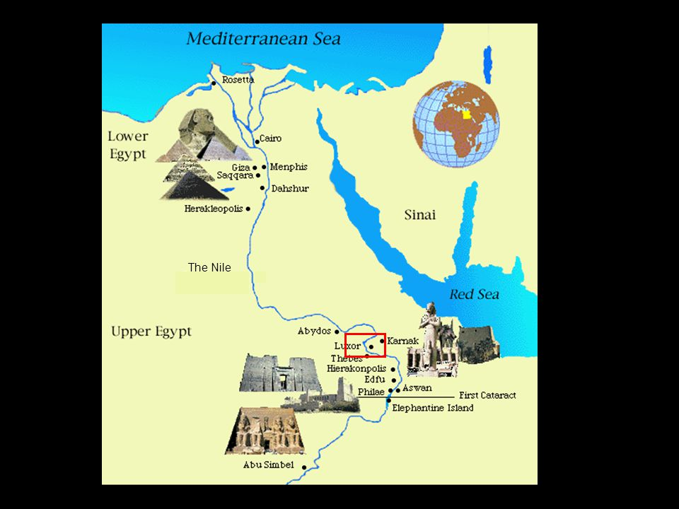 Map of Ancient Egypt & the Nile The Nile