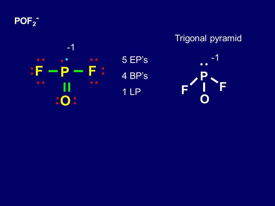 POF 2 - P O F F 5 EP's 4 BP's 1 LP Trigonal pyramid P F O F