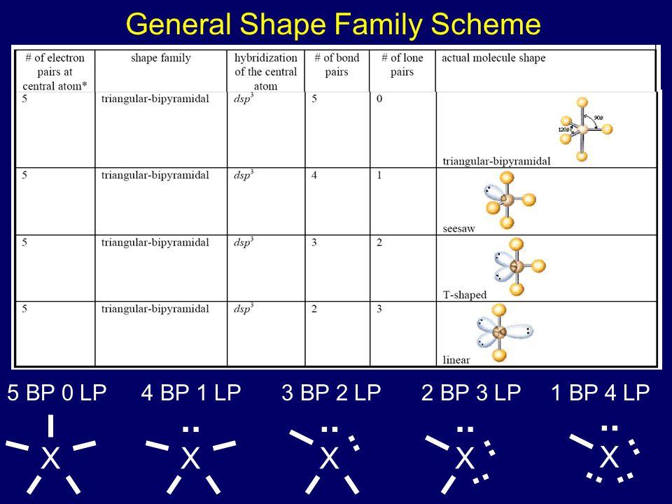 General Shape Family Scheme 5 BP 0 LP3 BP 2 LP2 BP 3 LP1 BP 4 LP X X.. 4 BP 1 LP X.. X X