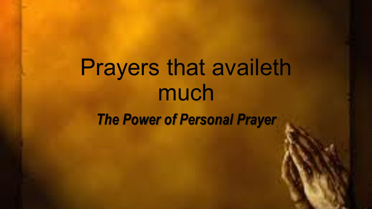 Prayer is the source of the Christian life, a Christian's Lifeline.