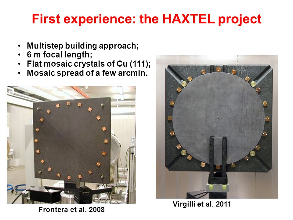 First experience: the HAXTEL project Virgilli et al.