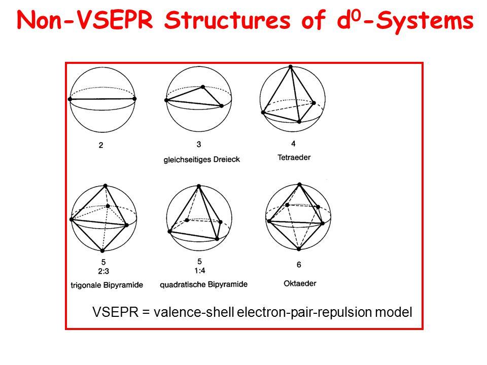 Non-VSEPR Structures of d 0 -Systems VSEPR = valence-shell electron-pair-repulsion model