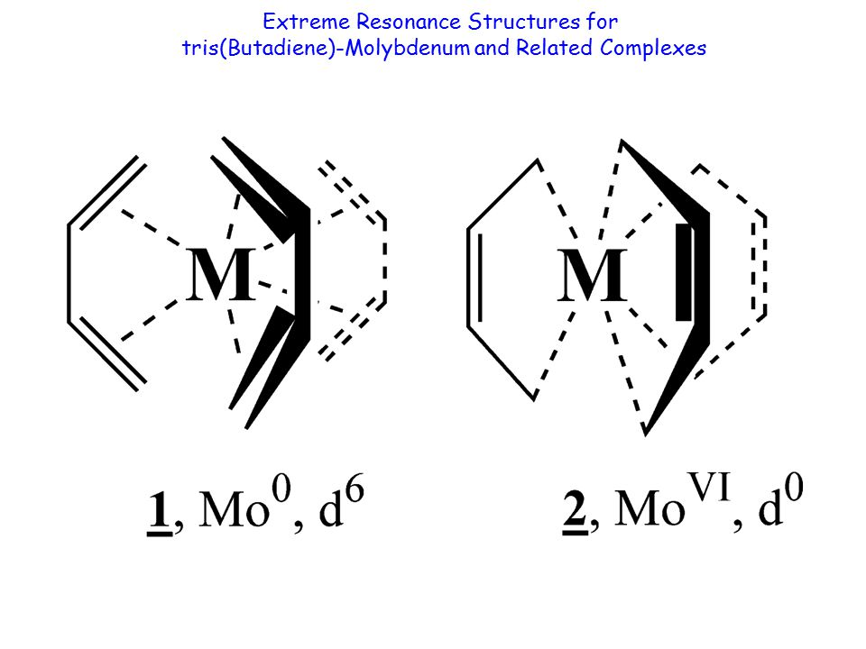 Extreme Resonance Structures for tris(Butadiene)-Molybdenum and Related Complexes