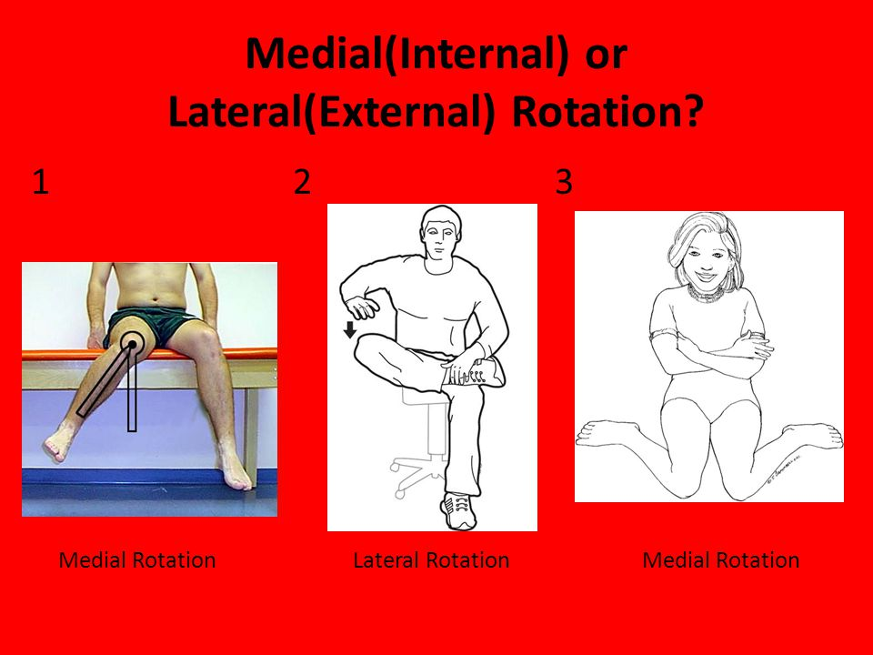 Medial(Internal) or Lateral(External) Rotation? 12 3 Medial Rotation Lateral RotationMedial Rotation