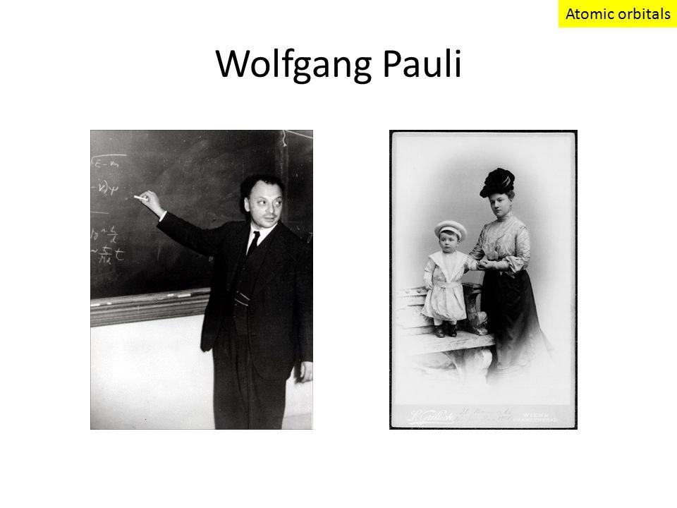 Wolfgang Pauli Atomic orbitals