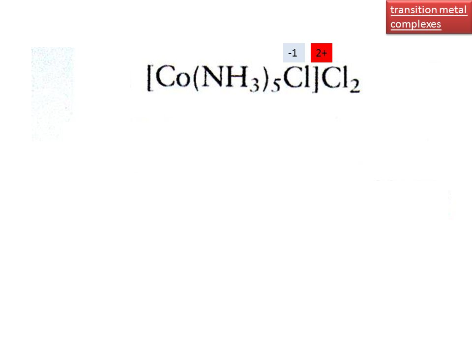 transition metal complexes transition metal complexes 2+