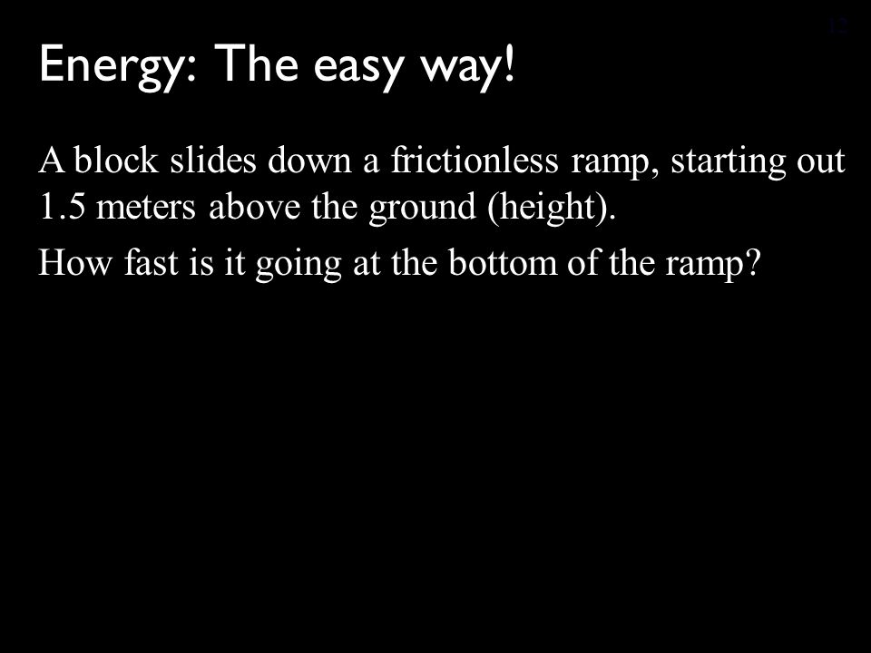 Energy: The easy way.
