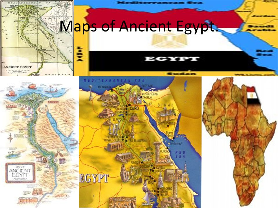 Maps of Ancient Egypt.