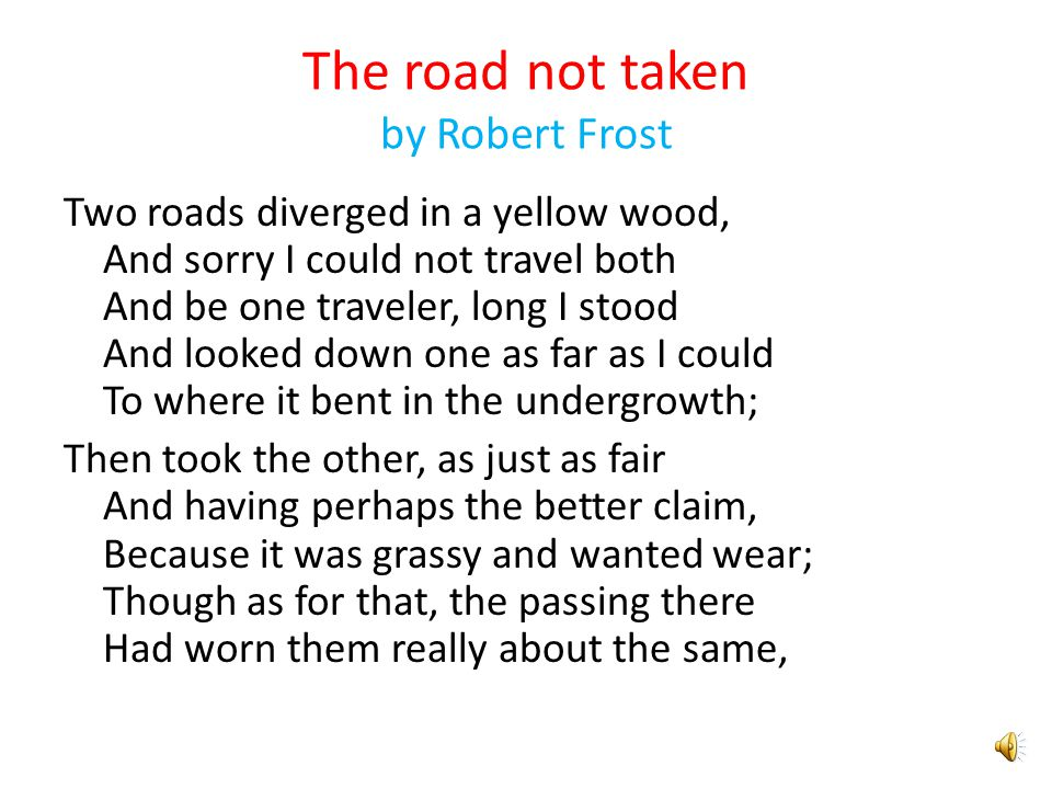 an analysis of the robert frosts poem