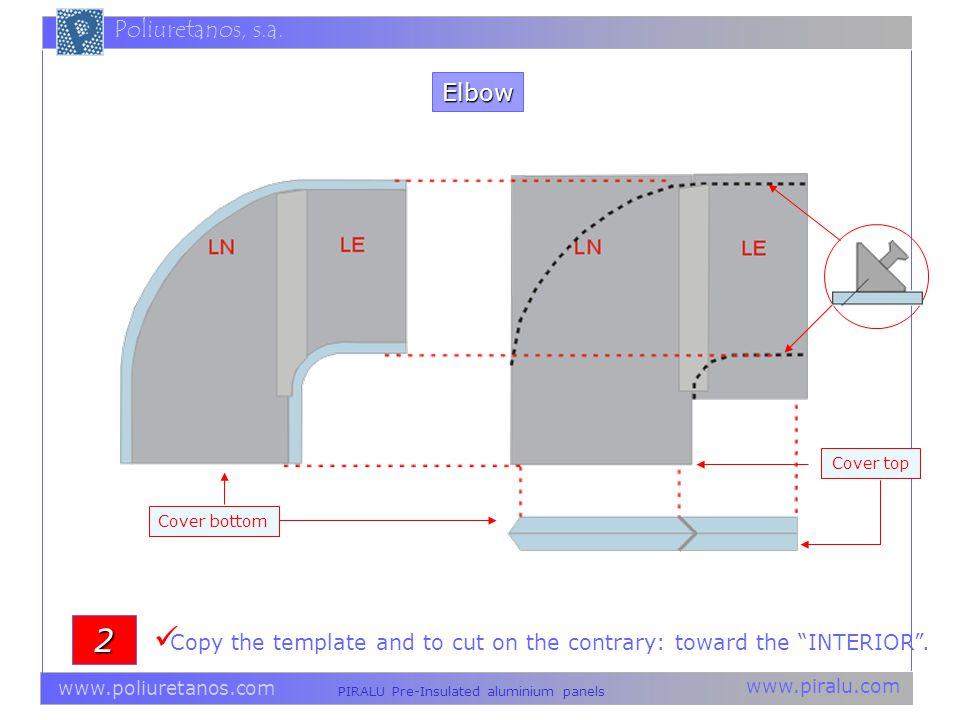 www.piralu.com PIRALU Pre-Insulated aluminium panels www.poliuretanos.com Poliuretanos, s.a. Copy the template and to cut on the contrary: toward the