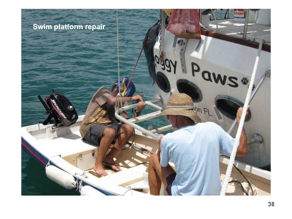 38 Swim platform repair