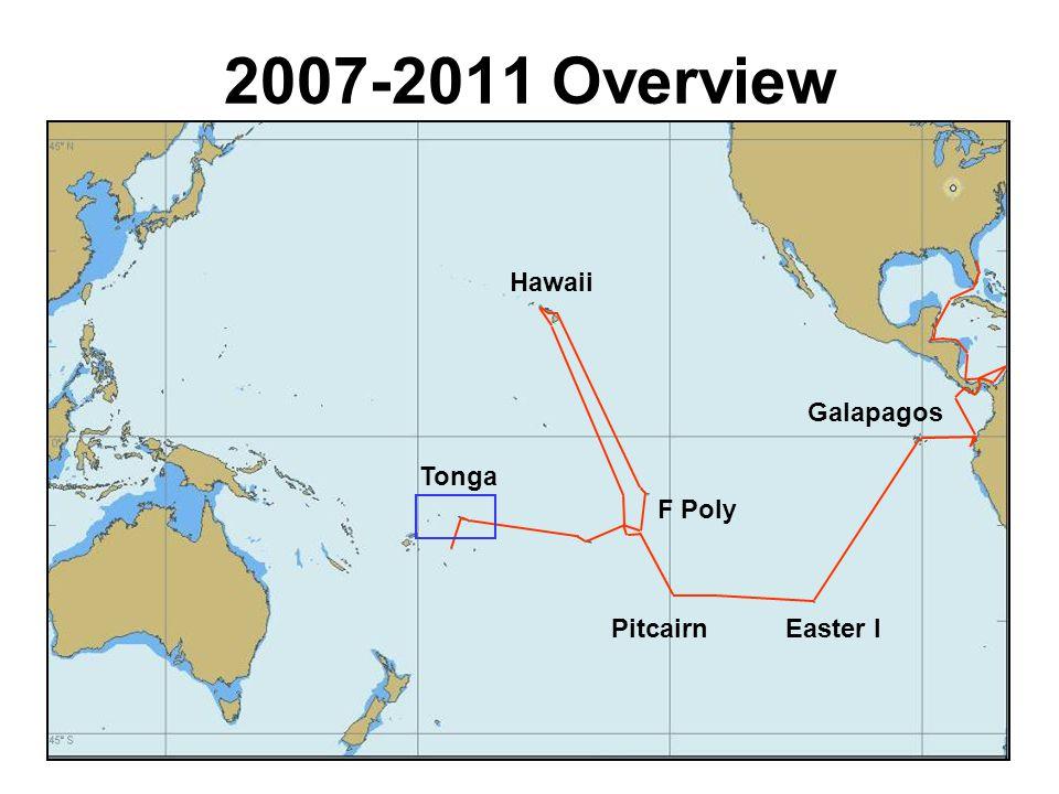 5 Hawaii French Polynesia Cooks Samoa Tonga 2011