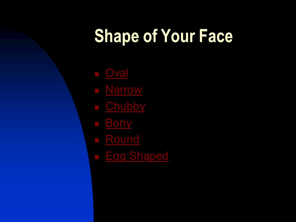 Shape of Your Face Oval Narrow Chubby Bony Round Egg Shaped