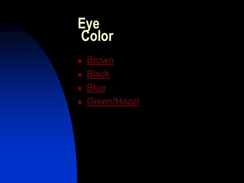 Eye Color Brown Black Blue Green/Hazel
