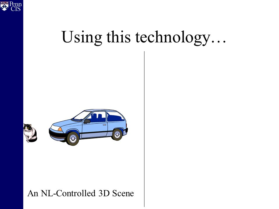 Using this technology… An NL-Controlled 3D Scene