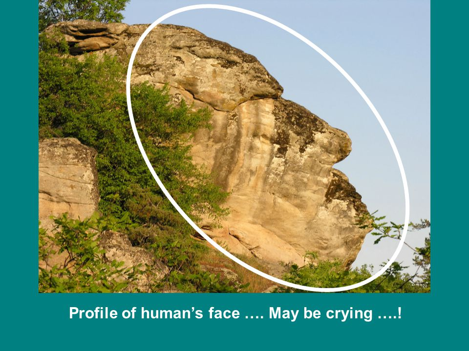 Profile of human's face …. May be crying ….!