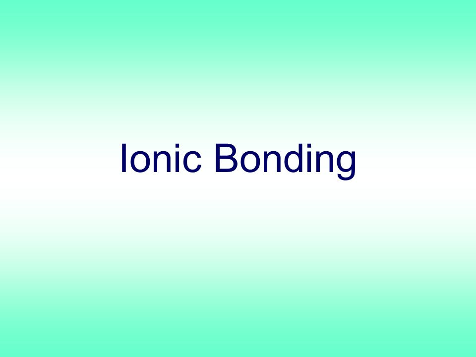 Ionic Formula Names Write the names of both ions, cation first.