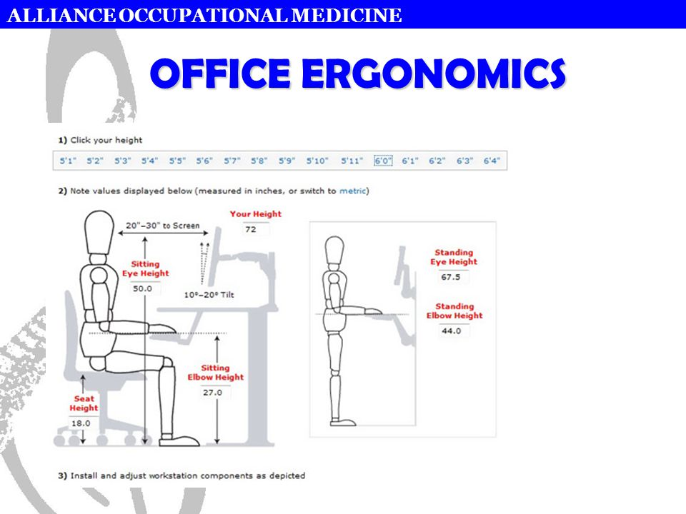ALLIANCE OCCUPATIONAL MEDICINE OFFICE ERGONOMICS