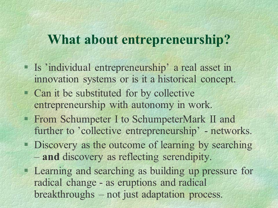 What about entrepreneurship.