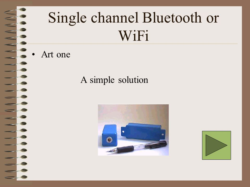 Single channel Bluetooth or WiFi Art one A simple solution