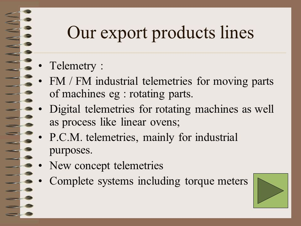 Digital telemetry concerns Digital telemetry presentation can be reached from the access page, it is an overview of what is our concept of digital telemetry.
