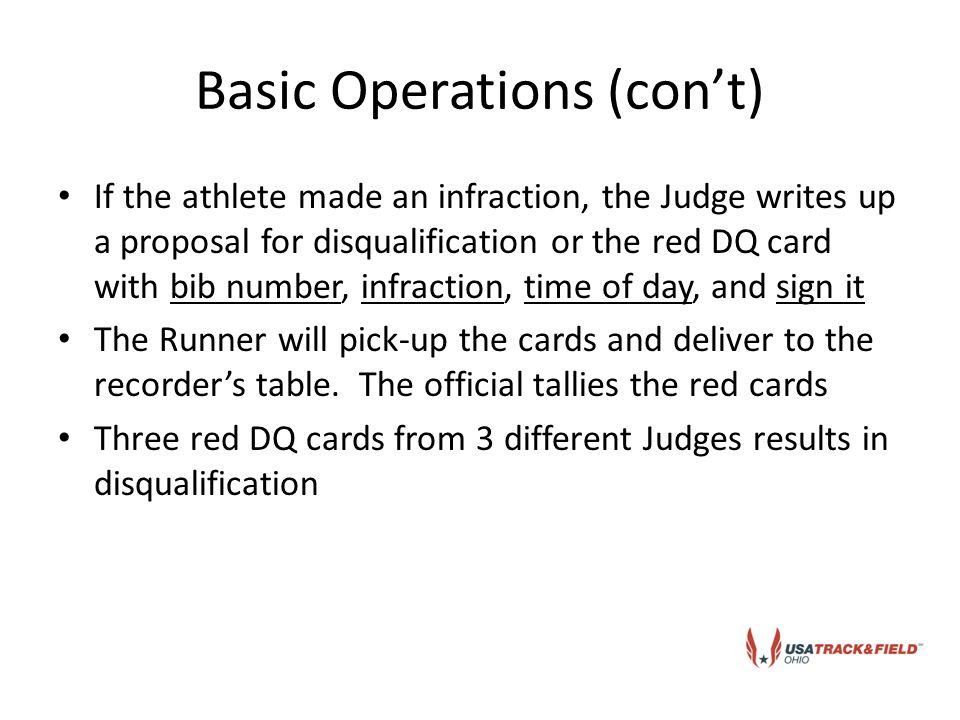 Tally sheet/DQ card