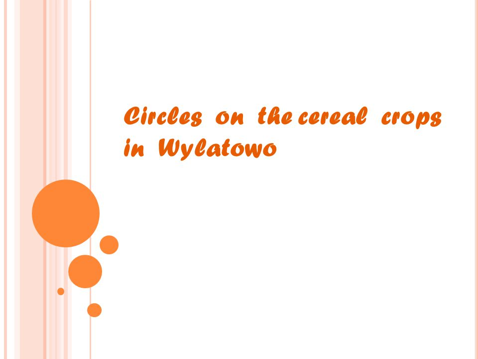 Circles on the cereal crops in Wylatowo