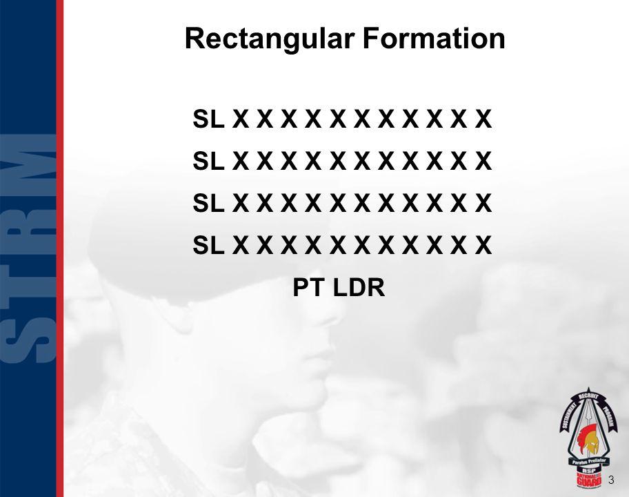 3 Rectangular Formation SL X X X X X X X X X X X PT LDR